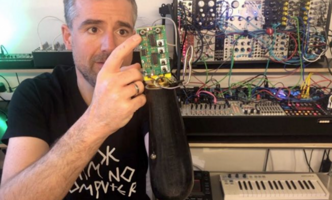 ELECTRONIC MUSICIAN ADAPTS PROSTHETIC ARM TO CONTROL MODULAR SYNTHESISER