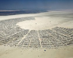 HUNDREDS GATHER AT BURNING MAN SITE DESPITE CANCELLATION